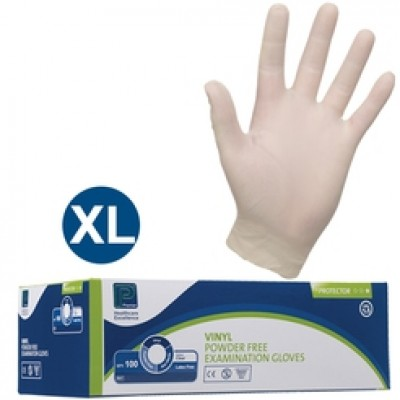 Soft Vinyl Gloves P/F - EXTRA LARGE - CLEAR - 1 x 100